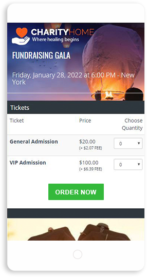 charity ticket sales